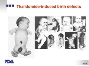 Thalidomide tragedy