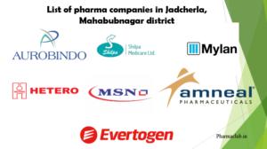 Jadcherla pharma compnies