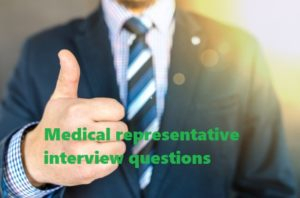 medical representative interview