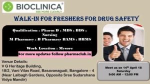 pharma vacancies bioclinica
