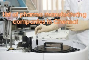 Pharma companies in chennai