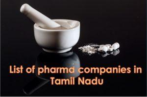 pharma companies in tamilnadu