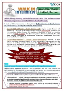 ipca pharma jobs