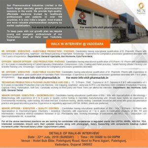 sun pharma jobs