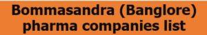 Bommasandra pharma companies