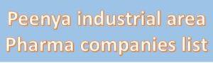 peenya pharma companies