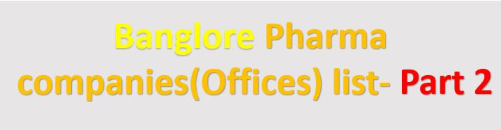 Pharma company offices