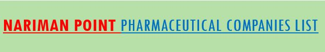 nariman point pharma companies list