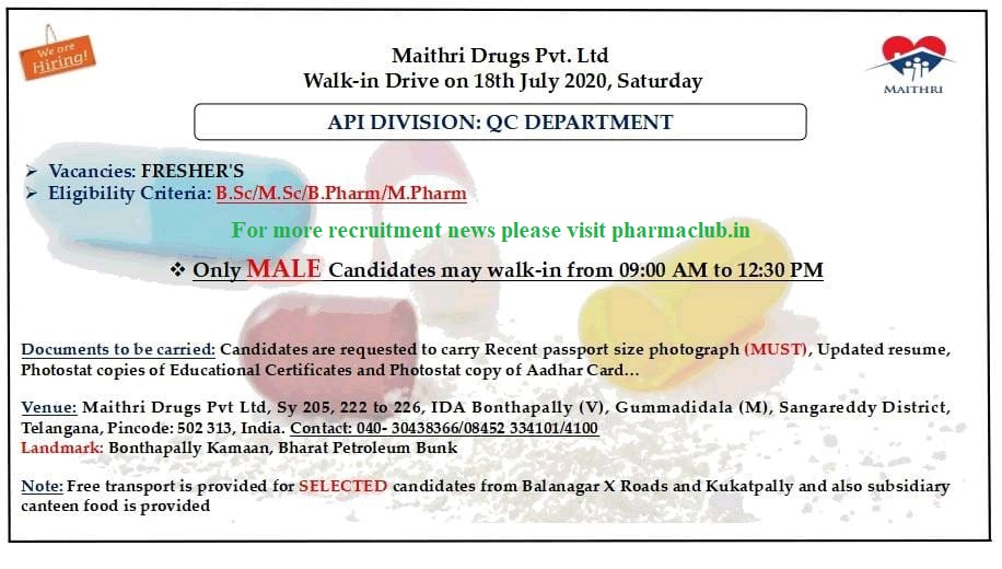 Maithri drugs Pvt Ltd.